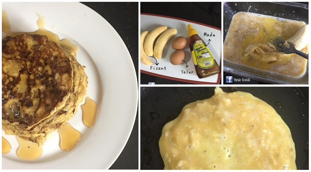 Resepi Pancake Pisang Guna 2 Bahan Saja. Tanpa Gula, Tanpa Tepung