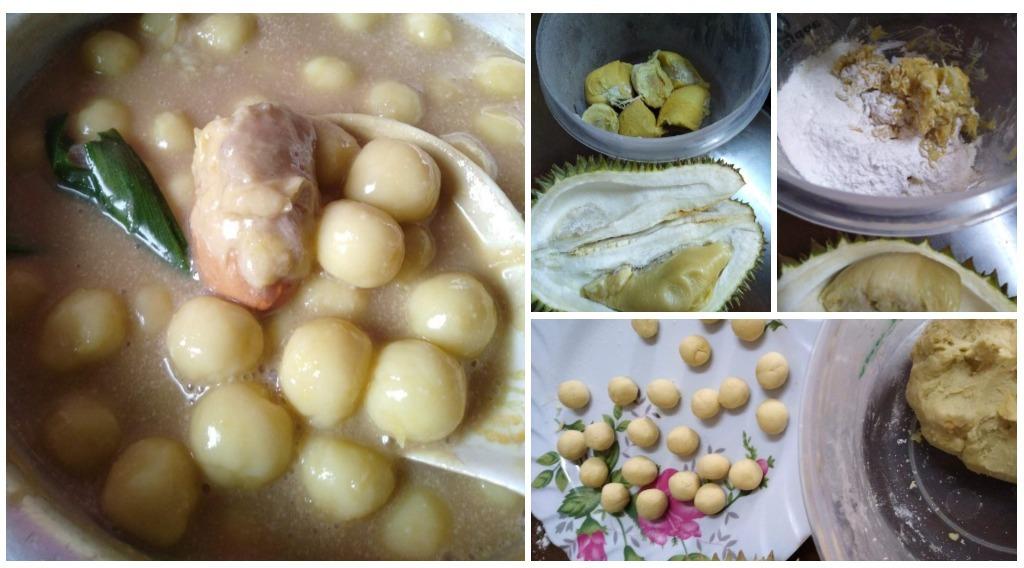 resepi pengat durian bebola